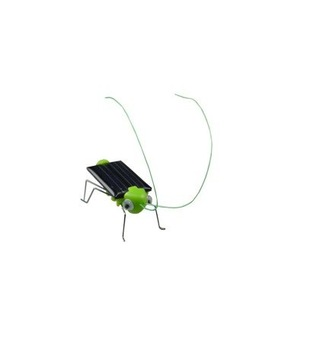 Free shipping 5pcs/lot Brand new Solar Toys, Solar Grasshopper,Green gift,Solar Powered Grasshopper