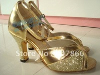 Free shopping -New Gold Ladies high heels Latin Ballroom Salsa Dance Shoes