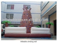 Giant colorful Outdoor Inflatable Climbing Wall for adults