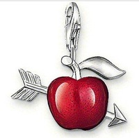 Couple must-stone mandrel red apple pendant
