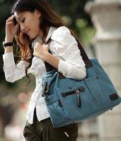 2013 Hotsale, free shipping ladies canvas bag, travel bag, women promation bag,1pc