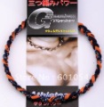 On Sale order 22' Orange/Black - Titanium Tornado Baseball Sports Energy 2 Rope Necklace With Individual Box
