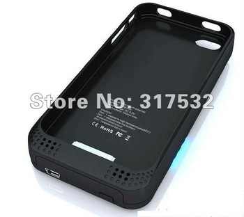 Free shipping Power case external Li-on battery case 2000mHA for Iphone 4 4s 4g with retail box