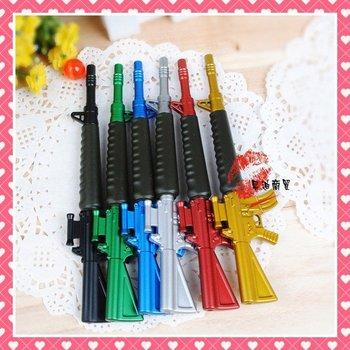 Free Shipping New Arrival Gun Style Ballpen/Promotion Ballpen/Emulational CS Ballpen,M4 Gun Pen,6 Colors,10g