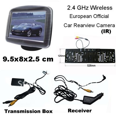 "3.5"" TFT Monitor Car Wireless Rearview Camera 2.4 GHz(EU Official Frame)(China (Mainland))"