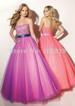 2012 Cheap Ball Gown Sweetheart Neckline Sleeveless Beading Organza Long Prom Evening Dress,  IWD91048