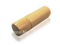 Cylinder Shaped Wood Usb memory Hard drive 8gb flash drive Chrismas Gift ! Free Shipping !