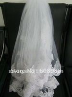 K2202 New Short Lace Three-layer Bridal Vails