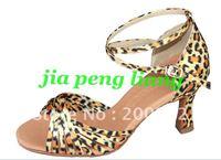 Wholesale Latin Dance Shoes Women's Ballroom Shoes 7.5cm Heels 8 Colors EU Size 34-40 20pcs Free Shipping