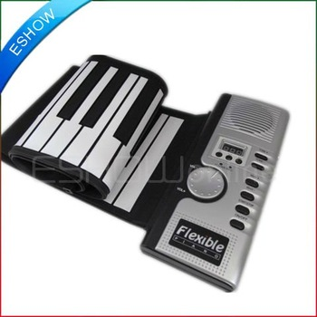 NEW 61 Keys MIDI Roll-up Soft Keyboard Piano D0045Z Eshow
