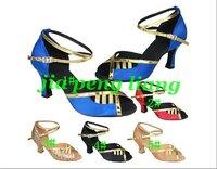 Wholesale Latin Dance Shoes Women's Ballroom Shoes 6cm Heels 5 Colors EU Size 34-40 20pcs Free Shipping