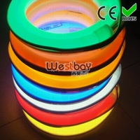 Full color  led neon flex, AC110-130V, white PVC Skin, top quality,competitive wholesale price, excellent  light effect