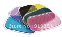FreeShipping Retail Packing car sticky pad,Powerful Silica Gel Magic Sticky Pad Anti-Slip Non Slip Mat for cell Phone PDA mp3mp4