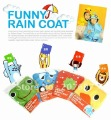 Kids Funny Raincoat Child Children Cartoon Baby Rain coat -Auto-Duck-Bunny-Frog Free shipping