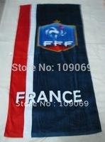 """France beach towel size 57"""" * 27.55"""" / latest popular football team badge cotton bath towel for adutls household bathroom"""