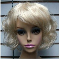 Beautiful cosplay Short Multicolor curl Synthetic Women's Wigs wigs free shipping  w-51