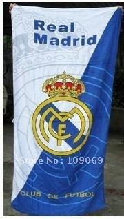 Real Madrid  white   beach towel / bath towel /cotton bath towel