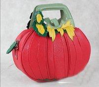 New Hot Fashion Amliya Abstract Lady's Handbags Messenger bags tote bag romatic Pumpkin,Tomato shape handbag 3 colors