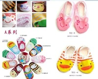 free shipping baby Toddler Anti-slip Ankle Socks Slipper Boots
