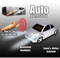 Car Shape LEDAlarm Clock,Auto Activated Alarm Clock+Free shipping