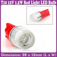 4pcs/Lot_T10 12V 1.5W Red Light LED Bulb for Car Vehicle_Free Shipping