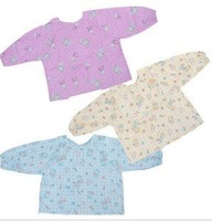 Free shipping Wholesale 10pcs/lot waterproof long sleeves Baby dinner clothes, Dinner dress clothes, anti-saliva