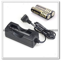 5Set/lot, 2 X 18650 3.7V 4000mAh Rechargeable Battery + Charger(US or EU plug)