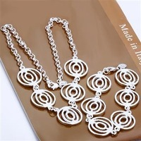Free shipping amazing 925 Silver lantern  chain set  jewelry set necklace bracelet  Xmas gift