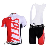 Free Shipping!! MEN'S 2012 NEW spe**** TEAM CYCLING JERSEY+BIB SHORTS BIKE SETS CLOTHES SIZE:XS-4XL& Wholesale/Retail