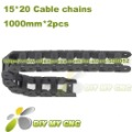 15X20 Cable drag chain wire carrier 15mm*20mm Plastic Cable Chain with end connectors for CNC Machines Tool DIY