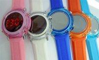 Free shipping  led digital watch new round led crystal digital watch, ladies fashion odm watch