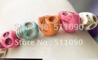 Promotion Price! 2012 Hot Color elastic skeleton head bracelets bracelets Free Shipping