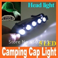 Cap Light LED headlamp headlight Clip-On 5 LED Fishing Camping cap light free shipping