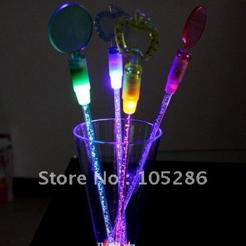 Trialsale 20pcs Led Swizzle Sticks wedding supply Flashing Beer Swizzle Sticks 4pcs/pack free shipping