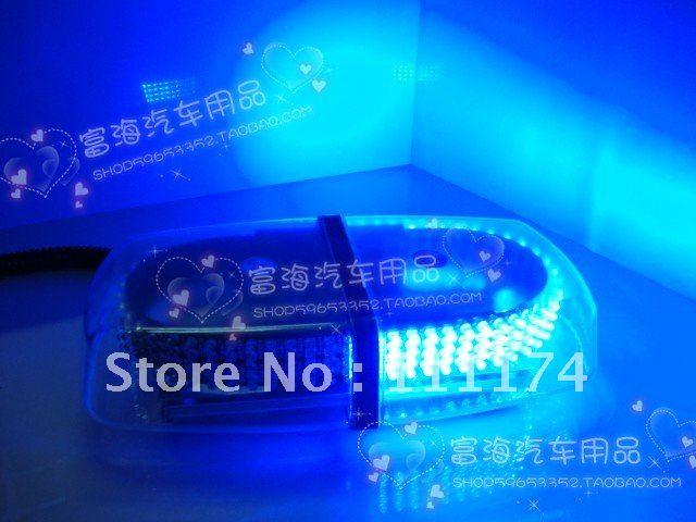 240 LED Car Roof Flashing Strobe Emergency Light Blue New(China (Mainland))
