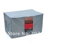size 47.5*28*50cm foldable Bamboo Charcoal fibre storage bag box case large clothes quilt etc tidy organizer wholesale