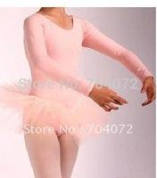 Wholesale -tutu Dancing Costume Girls Fairy Dress free Shipping Pink Ballet Dress