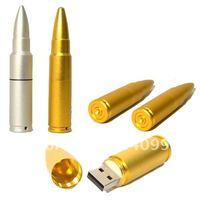 Wholesale NEW Metal Bullet Shape  4GB USB flash drive/disk/memory drive