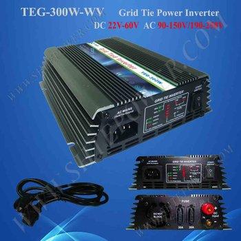 HOT SALE 300W GRID TIE POWER INVERTER CONVERTER DC22V-60V TO AC230V