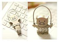 4GB,8GB,16GB,32GB  metal rope skipping pig USB flash drive+free shipping