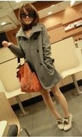 Free shipping 2012 han edition new cultivate one's morality woollen coat