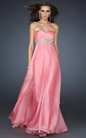 New arrival!Free shipping!chiffon full-length strapless backless custom-made evening dresses 2013