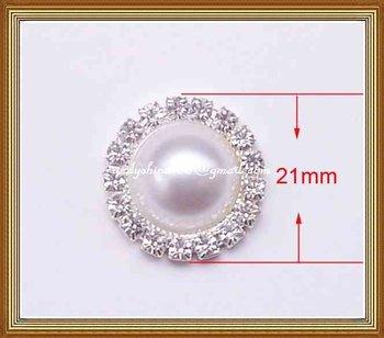 21mm diameter round rhinestone embellishment