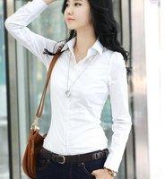 Free shipping,Korean/Japan women fashion OL Dress shirts/Career shirt ladies business High quality slim shirts,S,M,L,XL,XXL