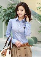Free shipping New Hot sell women fashion OL Dress shirts/lady Career shirt ladies High quality slim blouse,/S/M/L/XL X1862
