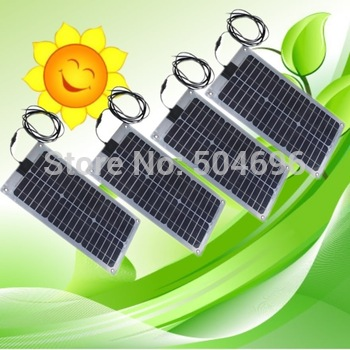 4 X 20W Semi-Flexible solar panels panel for car boat varavan CE,total 80w