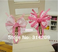 Wholesale!  New Cute Kids/Girls/Baby Ribbon Bow Hair clips/ Hairpins/ Hair Accessories 2 colors, 40pcs/lot