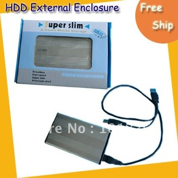 "Free shipping HDD External Enclosure  -----2.5"" USB 2.0 HDD Case Hard Drive SATA External Enclosure Box"