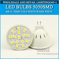 Wholesale 200PCS LED Bulb Lamp MR16 AC220V 230V 240V Warm White/Cool White 4W 270LM 15PCS 5050SMD Free shipping