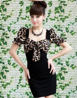 Женское платье S-XL manufacturers supply new fashion Women's Printing bow dress #452-923